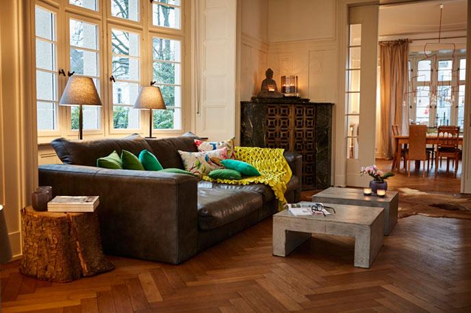 Gemütliches Wohnzimmer mit Home Staging