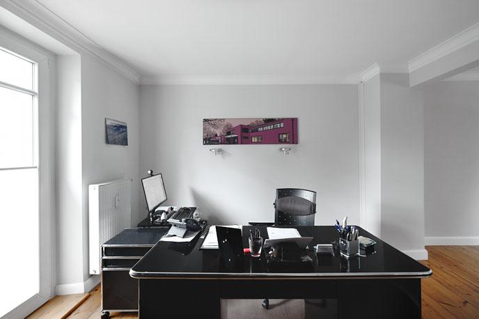 Arbeitsplatz eines Immobilienmaklers
