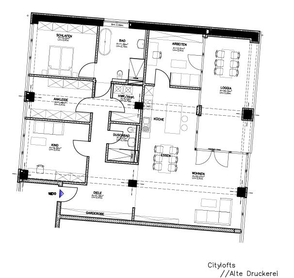 wohnen in der ehemaligen druckerei scherpe citylofts krefeld schreurs immobilien. Black Bedroom Furniture Sets. Home Design Ideas