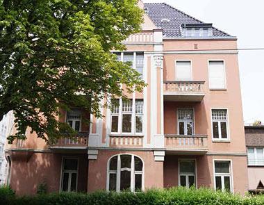 Ansicht der Villa Waldhof in Krefeld-Bockum