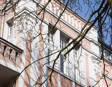 Fassade der Denkmalschutzimmobilie in Krefeld